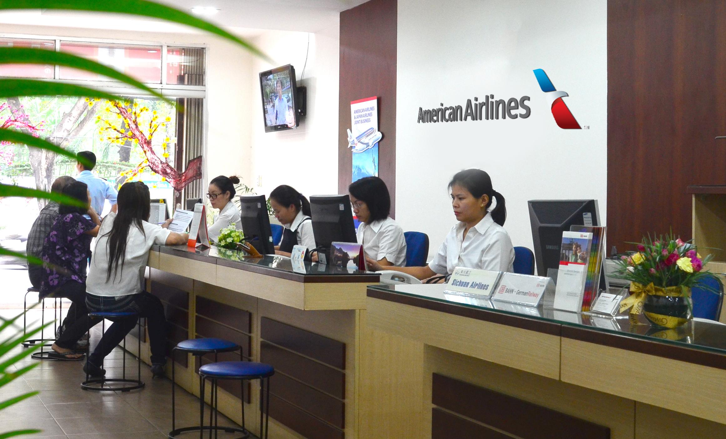 Dịch vụ phòng vé American Airlines tại Việt Nam