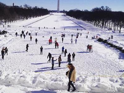 Những bức hình tuyệt đẹp trong bão tuyết ở Mỹ