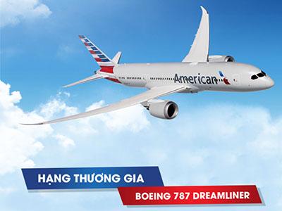 Bay cao cấp hạng Thương Gia American Airlines với giá vé hấp dẫn từ 2429 USD*